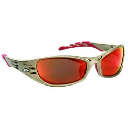 AO Safety - 11640-00000-10 - Fuel Safety Glasses Metallic Sand Frame Red Mirr