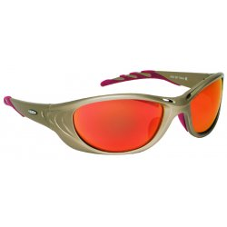 AO Safety - 11650-00000-10 - Fuel 2 Metallic Sand Frame Safety Glasses Red Mi