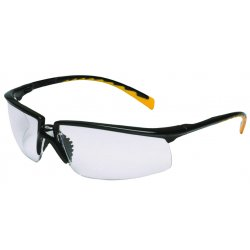 AO Safety - 12261-00000-20 - Privo Black Frame /orange Accent Clear Af Lens