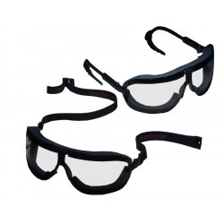 AO Safety - 16420-00000-10 - Fectoggles Large Black Adj. Temple Clear Lens