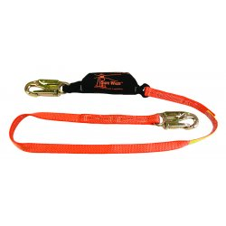 "SafeWaze - 3512-0241 - 6' Safe Stop Shock Absorbing Lanyard W/2-1/4"" Re"