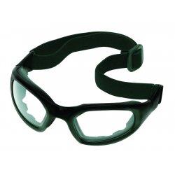 AO Safety - 40687-00000-20 - Maxim 2x2 Black Frame Gray Lenses Strap Temples
