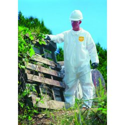 DuPont - 251-NG120S-2XL - ProShield NexGen Coveralls, HD Polyethylene, White, Size 2X-Large, 25/Carton