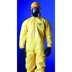 DuPont - QC122S-L - Yellow Tychem Qc Coverall Zip Front Att Socks La