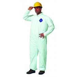 DuPont - 251-TY120S-XL - Tyvek Coveralls, Open Wrist/Ankle, HD Polyethylene, White, X-Large, 25/Carton