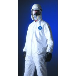 DuPont - 251-TY122S-XL - Tyvek Elastic-Cuff Hooded Coveralls w/Boots, White, X-Large, 25/Carton