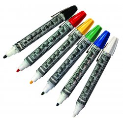 Dykem - 44175 - Permanent Industrial Marker with Medium Tip Size, White