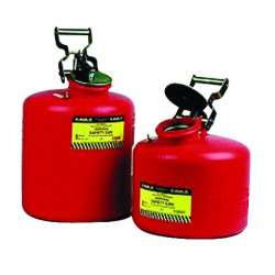 Eagle Mfg - 1425 - Disposal Safety Can 5 Gal Galvanized Steel Red Eagle Mfg Co. 11.25 In Outside Diameter 18 H, Ea