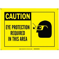 Brady - 26572 - Caution Sign, 10 x 14 In., Plastic