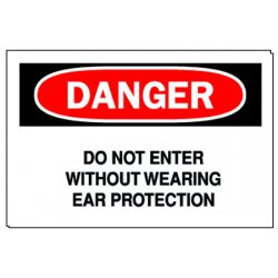 Brady - 40652 - Danger Sign, 10 x 14In, R and BK/WHT, ENG