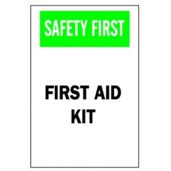 Brady - 41208 - First Aid Sign, 10 x 7In, GRN and BK/WHT