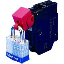 Brady - 65397 - Brady Red Impact Modified Nylon And Polypropylene 480/600 V Clamp-On Circuit Breaker Lockout