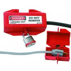 """Brady - 65674 - Plug Lockout, Red, Polypropylene, 3-1/2""""L x 2""""W x 2""""H"""