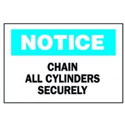 "Brady - 70239 - 10""x14"" Fiberglass Notice Chain Cylinder Sign"