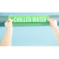 Brady - 7046-4 - Card Of 4 Chilled Waterreturn Self Sticking Pip