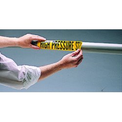 Brady - 7129-1 - Heating Water Return Self Sticking Vinyl Pipe Ma