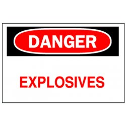 Brady - 75639 - Danger Sign, 10 x 14In, R and BK/WHT, ENG