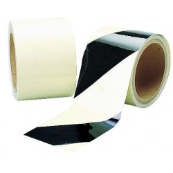 Brady - 76430 - Glow-in-the-Dark Marking Tape, Striped, Continuous Roll, 2 Width, 1 EA