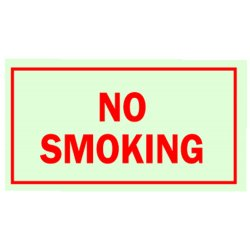 Brady - 80248 - No Smoking Sign, 7 x 10In, R/GRN, ENG, Text