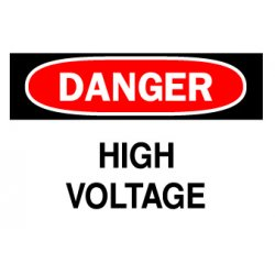 "Brady - 84877 - 10x14"" Danger High Voltage Safety Sign(sticker), Ea"