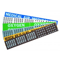 "Brady - 86331 - Medical Air 50-55 Psi Gas Pipe Marker For 1"" To"