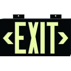 Brady - 90885 - Red Photolum Exit Sign Wall Mounted, Ea