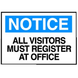 Brady - 95278 - Notice Security Sign, 10 x 14In, ENG, Text