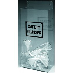 Brady - EHMVSD - 8 x 4 x 17-1/4 Plastic Economy Visitor Spec Dispenser, Black/Clear&#x3b; Holds (20) Glasses or Goggles