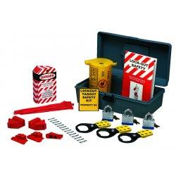 Brady - LKX - Portable Lockout Kit, Filled, Electrical Lockout, Tool Box, Gray