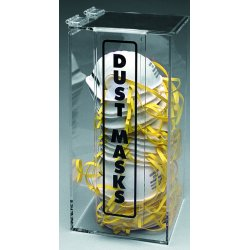 Brady - M420 - Brady M420 Acrylic Dust Mask Dispenser, Wall-Mt or Benchtop, 12.5'H x 6' W x 6'D