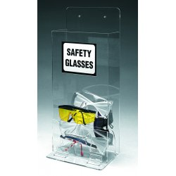 "Brady - MVSD - 8"" x 4"" x 18"" Acrylic Protective Eyewear Dispenser, Clear&#x3b; Holds Up to (20) Pairs"