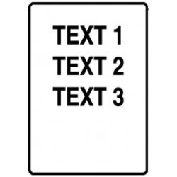 "Brady - PTL-11-427 - 3/4""H x 1/2""W White on Translucent Self Laminating Vinyl Label"