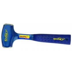 "Estwing - B3-3 LB - Estwing Drilling Hammer - 11"" Length - Blue - Forged Steel, Nylon, Vinyl - Comfortable Grip, Shock Absorbing Handle"