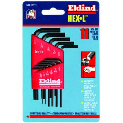 Eklind Tool - 10107 - 7pc. Inch L-wrench Hex Key Set Short Arm