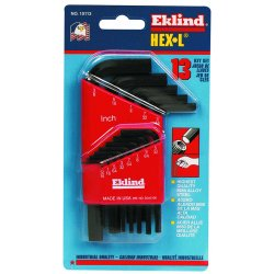 Eklind Tool - 10113 - Short L-Shaped SAE Black Oxide Hex Key Set, Number of Pieces: 13