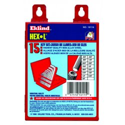 Eklind Tool - 10115 - 15pc. Inch L-wrench Hexkey Set Short Arm W