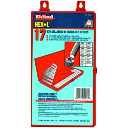 Eklind Tool - 10217 - 17 Piece Long Series Hex-l Key Set In Metal Box