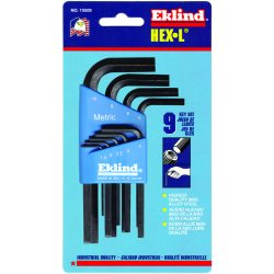 Eklind Tool - 10509 - Short L-Shaped Metric Black Oxide Hex Key Set, Number of Pieces: 9