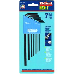 Eklind Tool - 10607 - 7pc. Metric L-wrench Hexkey Set Long Arm