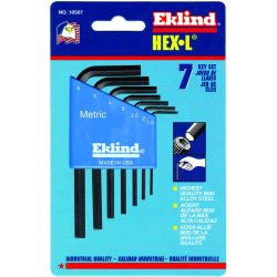 Eklind Tool - 10609 - Long L-Shaped Metric Black Oxide Hex Key Set, Number of Pieces: 9