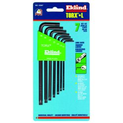 Eklind Tool - 10907 - Eklind Torx Wrench - Black - Alloy Steel - 8.16 oz - Heat Treated, Rust Resistant, Tamper Resistant - 1 / Set