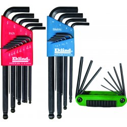 Eklind Tool - 13282 - Ball-hex-l Key Set Combopack- 13222- 25582