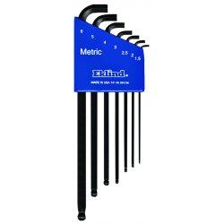 Eklind Tool - 13507 - Ball-hex-l Key Set - Stubby 7pc. Set 1.5mm-6mm