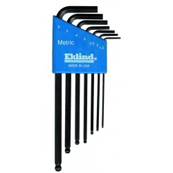 Eklind Tool - 13607 - Eklind Hex-L Long Wrench Set - Black - Alloy Steel - 4.32 oz - Heat Treated, Rust Resistant - 7 / Holder