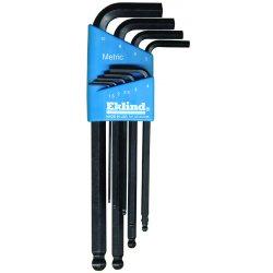 Eklind Tool - 13609 - Eklind Hex-L 13609 Long Wrench - Black - Alloy Steel - Heat Treated, Rust Resistant