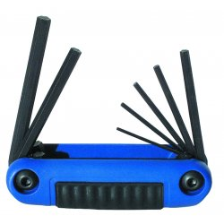 Eklind Tool - 25171 - Short Fold-Up Ergonomic Metric Black Oxide Hex Key Set, Number of Pieces: 7