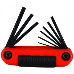 Eklind Tool - 25912 - Short Fold-Up Ergonomic SAE Black Oxide Hex Key Set, Number of Pieces: 9