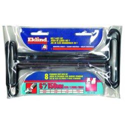 "Eklind Tool - 30160 - 6"" 10 Key Set T-handle Hex Key Set 3/32""-3 Stand"