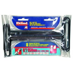 Eklind Tool - 33168 - Long T-Shaped SAE Black Oxide Hex Key Set, Number of Pieces: 8