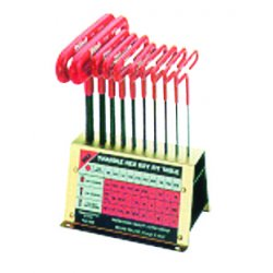 "Eklind Tool - 50190 - 9"" 10 Key T-hdl Allen Set W/stand Cus"